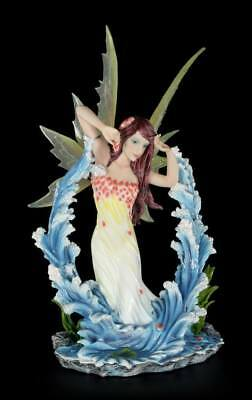 Elves Figurine - Nautica with Water dance - Fairy Decorative Statue Fantasy