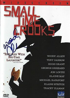 Woody Allen signed Small Time Crooks DVD - Brand New - Proof