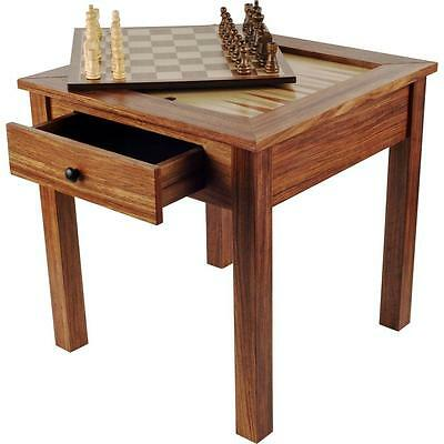 Trademark Game Board Deluxe Wooden Chess Backgammon Veneer Table Set Versatile