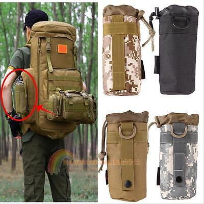 Tactical Military Molle System Water Bottle Bag Kettle Pouch Holder Bag Outdoor