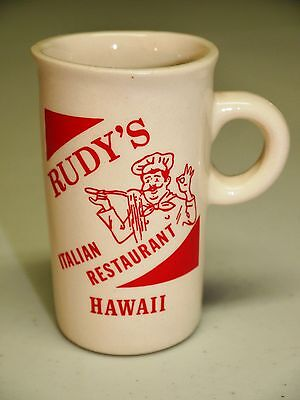 Vintage Expresso cup - Rudy's Italian Restaurant Hawaii