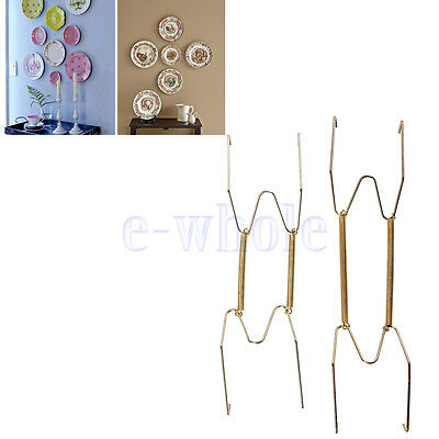 Creative Wall Display Plate Dish Hangers Holder For Home Décor Size Choice TW