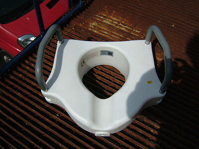 Drive Medical Toilet Seat Raiser With Handles. Some Parts Missing.