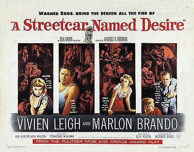 Home Wall Print - Vintage Movie Poster - A STREETCAR NAMED DESIRE - A4,A3,A2,A1