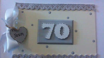 Personalised 70Th  Guest Book Photo Scrapbook