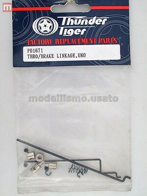 Thunder Tiger PD1671 Tiranti Freno Uno Throttle Brake Linkage modellismo