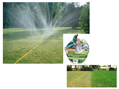 7 M X 20Mm Flat Lay Outdoor Garden Grass Lawn Water Sprinkler Hose W/ Connectors