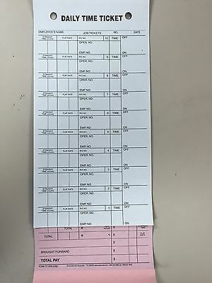 Mechanics Daily Job & Time Tickets 3 PART.250 Per Box Pressure Sensitive