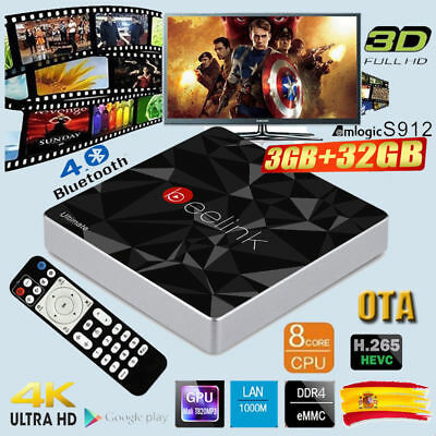 3+16GB Android 6.0 4K S912 OctaCore MECOOL BB2 PRO Smart TV BOX 3D Dual WIFI HDR