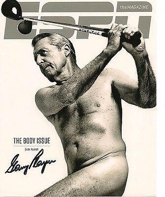 Gary Player Autographed Awesome 8X10 Photo Golf Legend Espn Cover Photo
