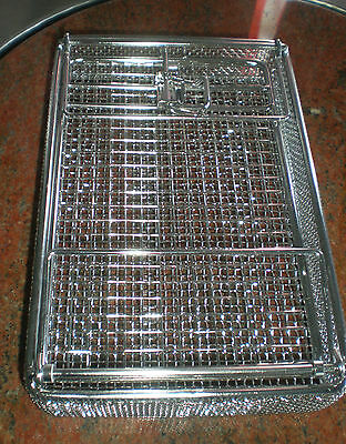 "Basket, Parts washing, 9"" x 6"" x 1.75"", stainless, locking lidw/fld hand,5004201"