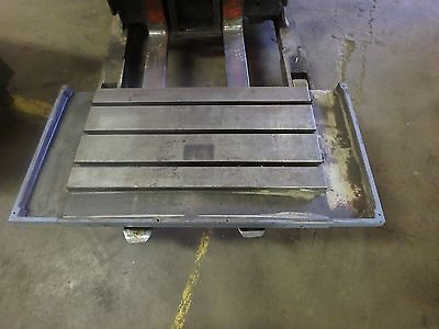 """43.25"""" x 21.5"""" x 5.5"""" T-SLOTTED STEEL TABLE Cast Iron T-Slot_JIG_WELD"""