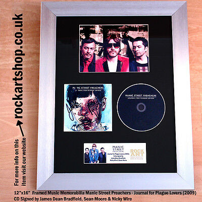 MANIC STREET PREACHERS Journal for Plague Lovers FULLY SIGNED CD Autographed