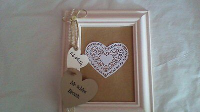 Personalised Vintage Style Wedding Photo Frame Gift 7x5