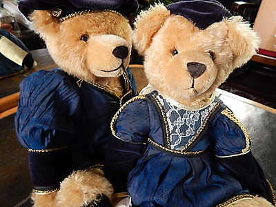 "Limited Edition Teddy Romeo & Juliet Shakespeare Hermann Jointed Grower 16"" Pair"