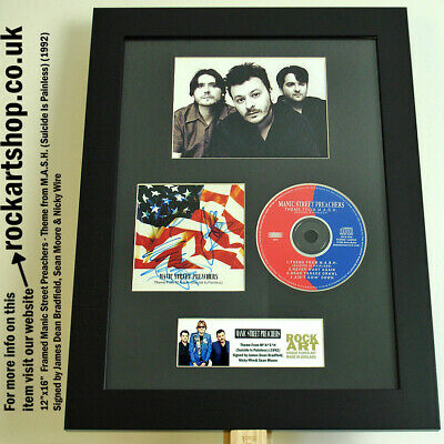MANIC STREET PREACHERS Theme From M.A.S.H. SIGNED CD COA Autographed *WORLD SHIP
