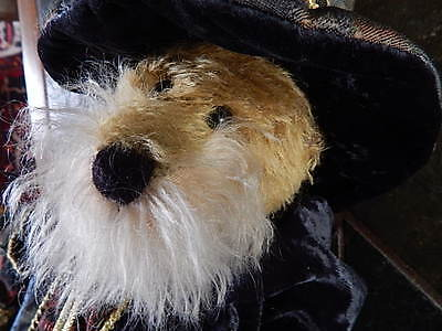 Limited Edition Teddy Merlin Wizard Hermann Mohair Jointed Collertors 16""