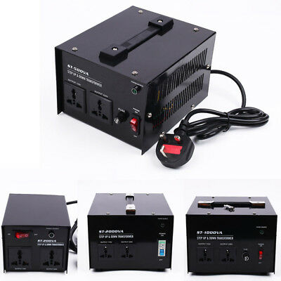200/500/1000/2000W UK-US US-UK Step Down Voltage Transformer AC Power Converter