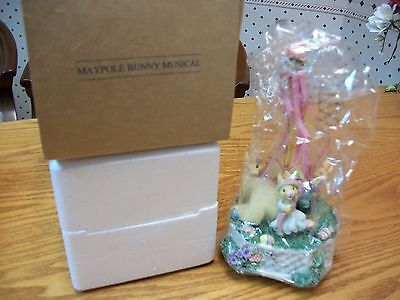AVON COLLECTORS: Maypole Bunny Musical figurine *MINT