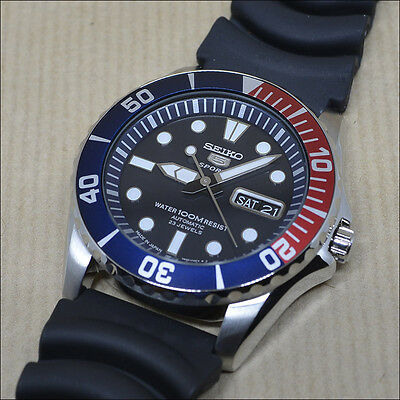 """Seiko 5 Sports Automatic SNZF15J2 Rubber strap *MADE IN JAPAN*  """"Pepsi bezel"""""""