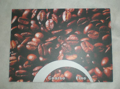 sticker, coffee bean, for grinder or misc., 5001662-100