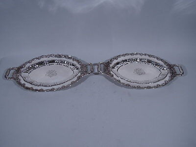 Tiffany Chrysanthemum Serving Dishes - 5931 - Pair - American Sterling Silver