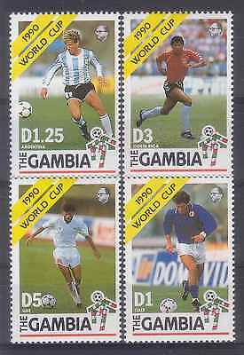 Gambia 1990 Italy 90 Football Soccer World Cup Mnh M8976