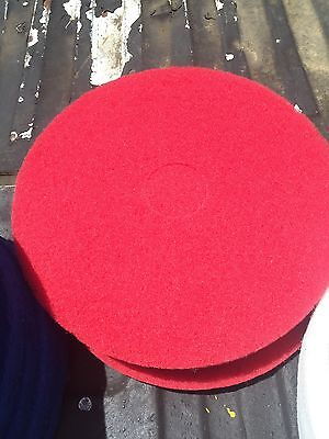 "17"" Diameter Red Floor Scrubbing / Polishing / Buffing Pad"