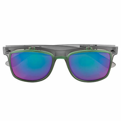 """New CREATURE Skateboards """"Zorchmeat"""" Flip Up Translucent Green Sunglasses"""