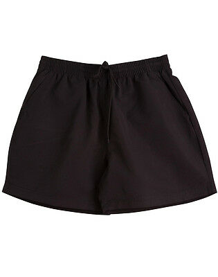 Kids Boys Girls Microfibre Draw String Shorts School Team SS29K