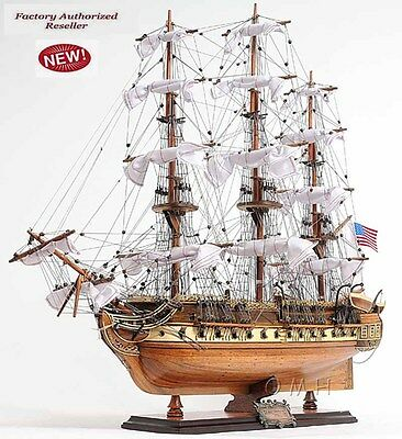 "USS Constitution Old Ironsides Tall Ship  31""Wood Model Sailboat Assembled"
