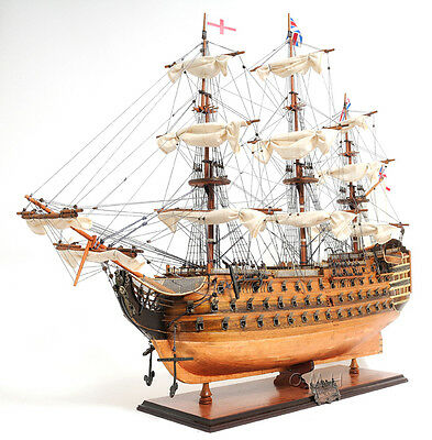 "HMS Victory Admiral Nelson's Copper Bottom Tall Ship 38"" Wood Model Sailboat"