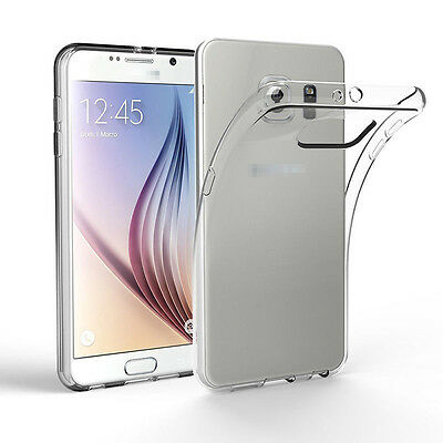 Soft Silicone TPU Ultra Thin Slim Clear Transparent Cover Phone Case For Samsung