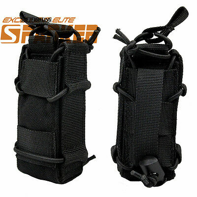 1000D Tactical Military Molle Belt Pistol Magazine Bag Pouch Flashlight Holster
