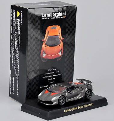 1/64 Grey Lamborghini Sesto Elemento Minicar Hobbies Alloy Car Kyosho Model Toy