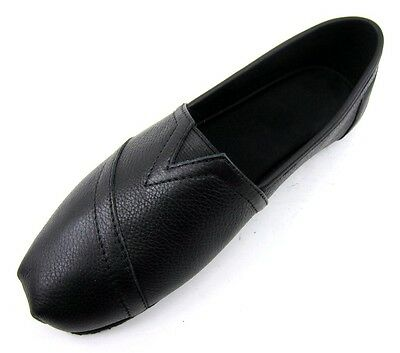 Womens Non Slip Oil Resistant Work Leather Shoe Black White Size Fashion Slip-On