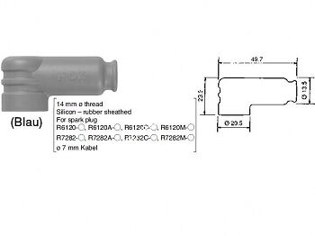 ATTACCO CANDELA NGK NGK TRS1225-B BLE per CANDELE TIPO R6120 e R7282