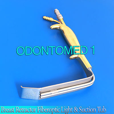 Tebbetts Style Endo Breast Retractor 80mm x16mm, Fiberoptic Suction Tube BST-011