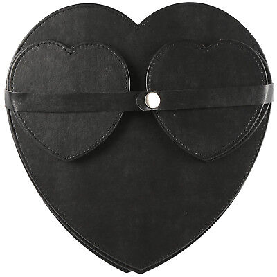 Pack Of 4 Heart Shaped Coasters And Table Placemats Dinner Tableware Set Black