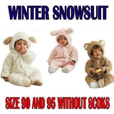 Winter Animal Design Baby Jumpsuit Snowsuit Outwear Bodysuit,boys girls gift