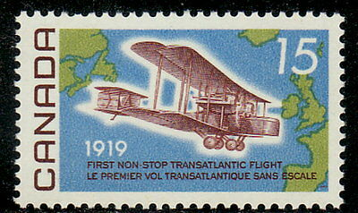 Canada #494 15¢ First Non-Stop Transatlantic Flight MNH