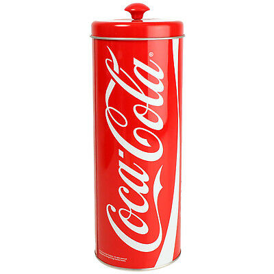 Coca-Cola Coke Tin Straw Storage Holder Bar Pub Accessories
