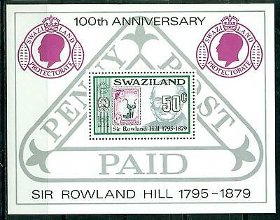 Swaziland 1979 100Th Death Anniv. Of Sir Rowland Hill S/s Mnh M14309
