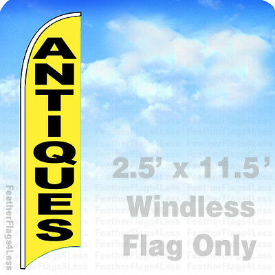 2.5x11.5' WINDLESS Swooper Feather Flag Tall Banner Sign - ANTIQUES yb