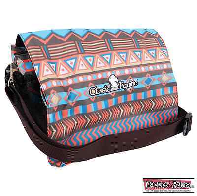 Classic Equine Brown Turquoise Tribal Accesory Grooming Tote Bag Horse Tack