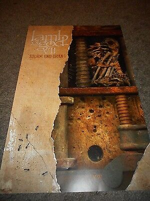 Lamb Of God - Sturm Und Drang - Original Ss Rolled Promo Poster - 2015