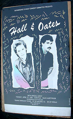 HALL & OATES Private Eyes Tour 1981 Poster Mint- Original!!!