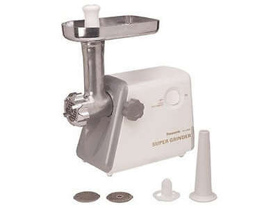 Panasonic MK-G20NR-W Heavy Duty Meat Grinder (3 Stainless Steel Cutting Plates)