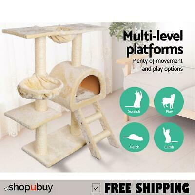Cat Scratching Poles Tree Toy Scratcher Post Gym House Climber 100cm Beige