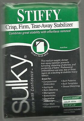 "Sulky Stiffy -  20""x 1 yard - a crisp, firm tear-away stabiliser"